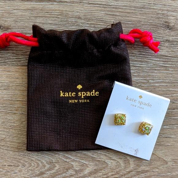 Kate Spade Gold Sparkle Studs